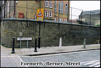 Liz Stride was murdered on Berner Street on 30th September 1888