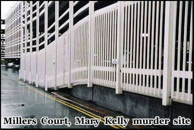 This car park was once Millers Court where Mary Kelly was murdered