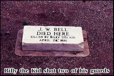Location where J.W Bell was shot and killed on April 28th 1881