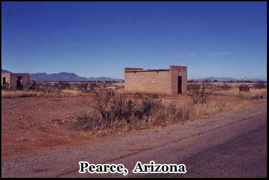 The town of Pearce is still partially populated and its original jail still stands