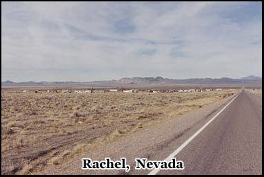 Rachel, a former mining town in the Nevada desert