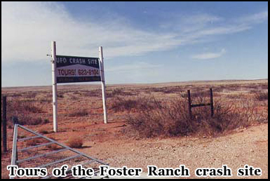 Tours Are Available of The Foster Ranch Crash Site