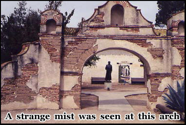 Ghostly monks have been seen at the Mission San Antonio de Padua in California