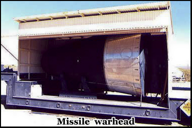 The decommissioned warhead was monitored by a Russian Satellite to confirm it was inactive