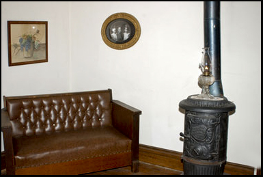 The living room in the Moore House, Villisca