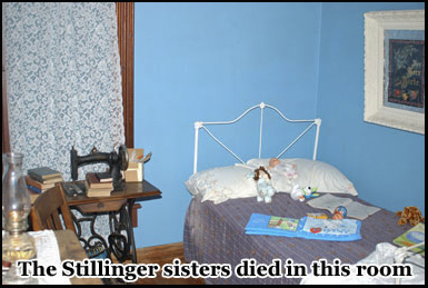 The Stillinger sisters were murdered here by an unknown assailant