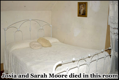 Josia and Sarah Moore were hacked to death in this bedroom