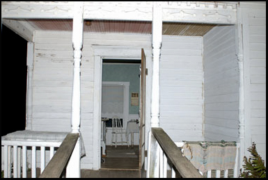 The porch at the rear of the Villisca Axe Murder House