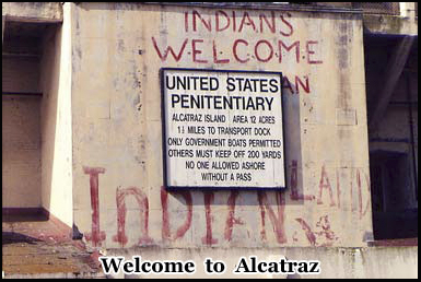 Native Americans took over Alcatraz as a protest after it closed