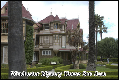 The haunted Winchester Mystery House, San Jose, California