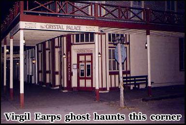 The ghost of Virgil Earp haunted this corner on Allen Street