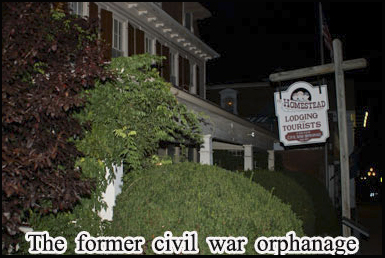 The civil war orphanage is one of the stops on the ghosts of Gettysburg tours