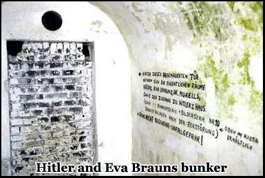 Hitlers and Eva Brauns bunker beneath the Hotel Zum Tuken