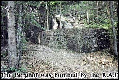 The bombed out remains of Hitlers Berghof