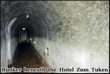 The remnants of the Nazi tunnel complex beneath the Hotel Zum Tuken