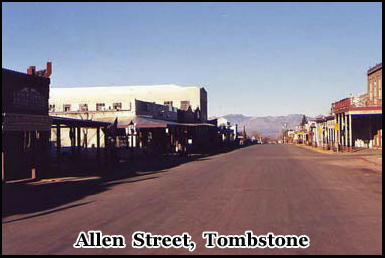 Allen Street, one of the most haunted places in Tombstone